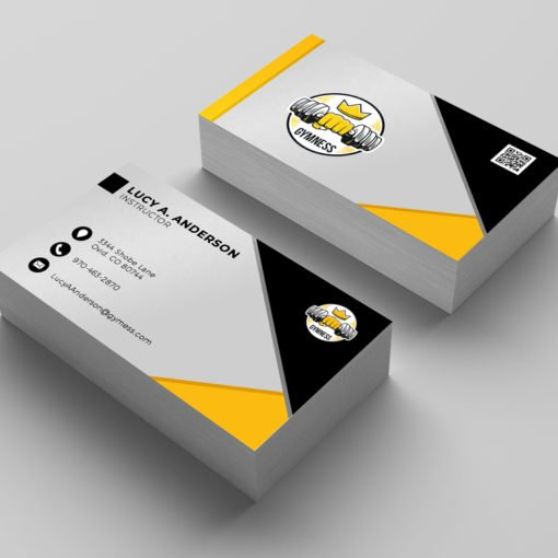 Custom Standard Business Cards, Aqueous Coating Business Cards