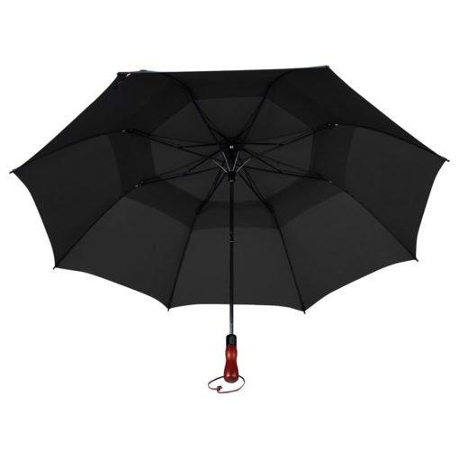 "56"" Auto Open Folding Umbrella w/ wood handle-3"
