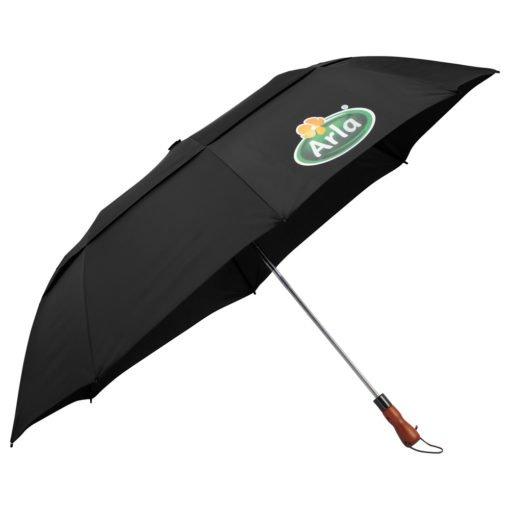 "56"" Auto Open Folding Umbrella w/ wood handle-9"