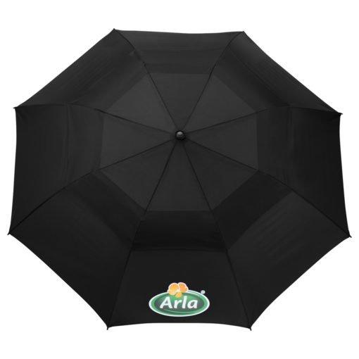 "56"" Auto Open Folding Umbrella w/ wood handle-7"
