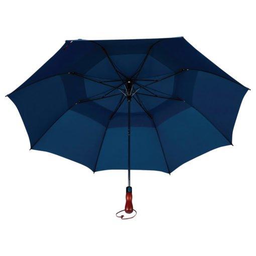 "56"" Auto Open Folding Umbrella w/ wood handle-4"