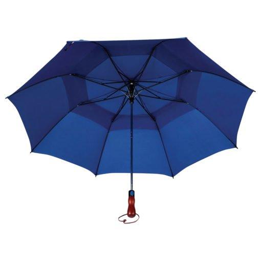 "56"" Auto Open Folding Umbrella w/ wood handle-6"