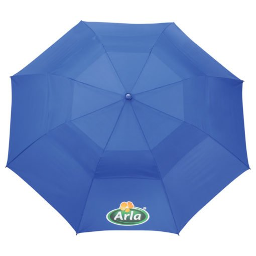 "56"" Auto Open Folding Umbrella w/ wood handle-12"