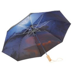 "46"" Clear Night Sky Auto Open Folding Umbrella-1"