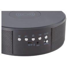 Bluetooth Speaker Clock w/Wireless Charging