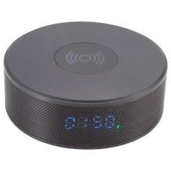 Bluetooth Speaker Clock w/Wireless Charging-1