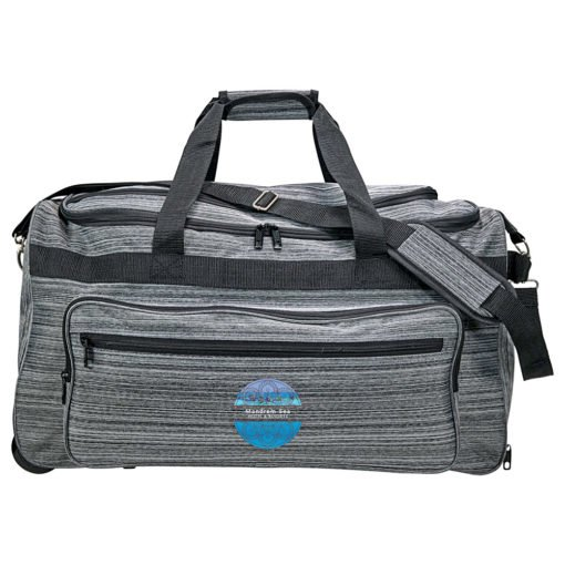 Heathered Rolling Duffel-2
