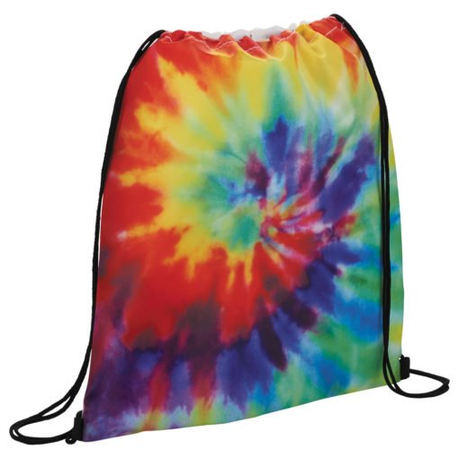 Custom Tie Dye Drawstring Bag