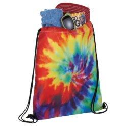 Tie Dye Drawstring Bag-2