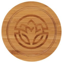 Round Bamboo Coaster Set with Holder-1