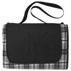 Extra Large Plaid Picnic Blanket Tote-1