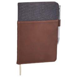 Alternative® Canvas Leather Wrap Bound Notebook-1
