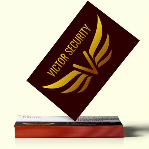 Ultra Thick Painted Edge Business Cards   Brown Ultra Thick Painted Edge Business Cards   PrintMagic