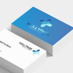 Business Card Blue Raised Foil | Foil Business Cards printing | Specialized Business Cards With Foil On Front Standard Uncoated | Print Magic