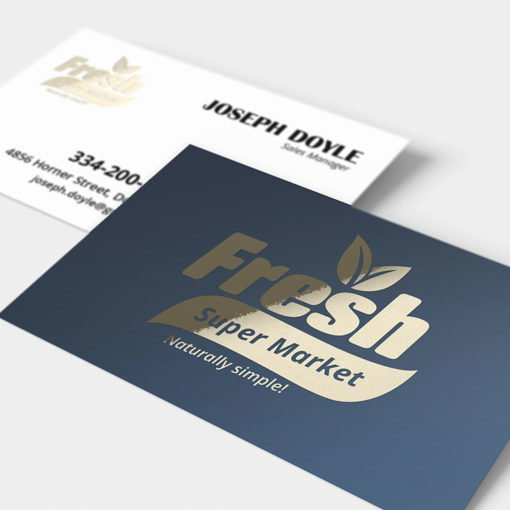 Business Card Gold Foil UV Coating | Foil Business Cards printing | Specialized Business Cards With Foil On Front Standard Uncoated and UV Coating| Print Magic