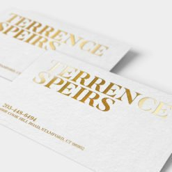 Business Card Gold Foil on White Paper Stock | Foil Business Cards printing | Specialized Business Cards With Foil On Front Standard Uncoated and Gold Finish | Print Magic