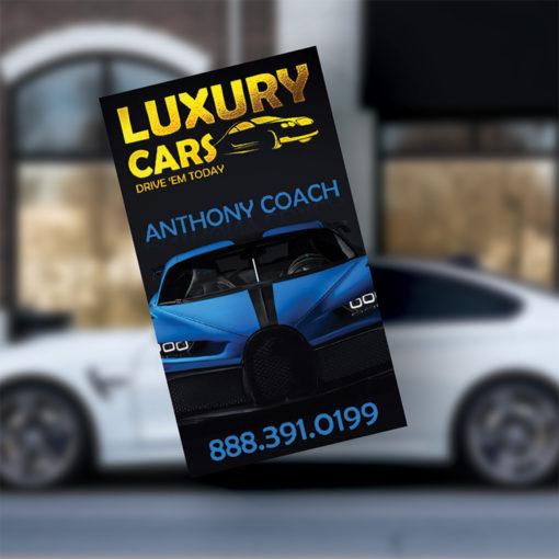 Foil Business Cards | Business Cards Gold Foil Vertical Automotive Industry | PrintMagic