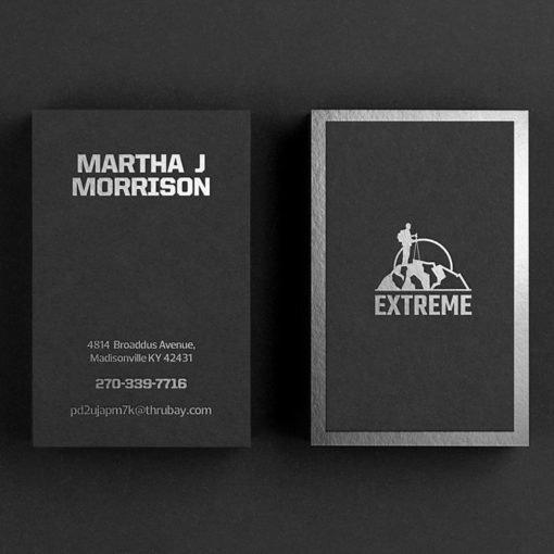 Foil Business Cards printing, Silver Foil Business Cards