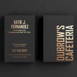 Foil embossed business cards, Gold Foil Business Cards
