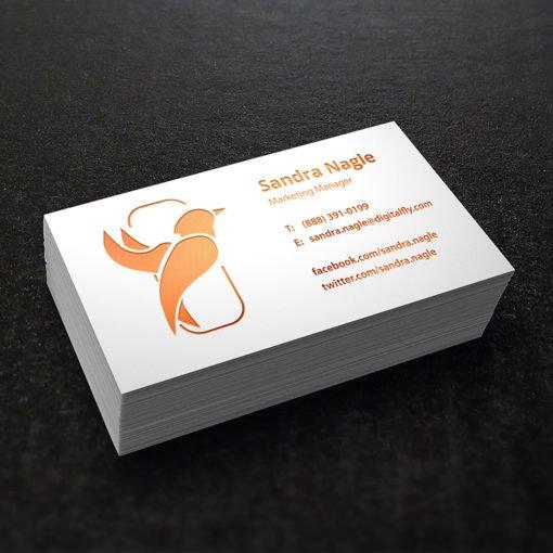 Business Card Cooper Foil Designer | Foil Business Cards printing | Specialized Business Cards With Cooper Foil On Front | Print Magic
