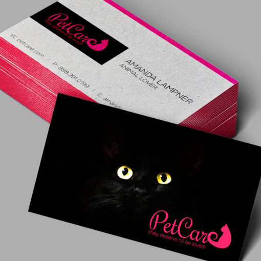Ultra Thick Painted Edge Business Cards | Metallic Hot Pink Ultra Thick Painted Edge Business Cards | PrintMagic