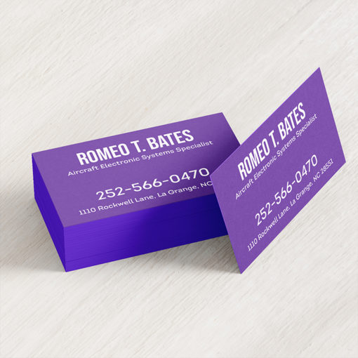 Ultra Thick Painted Edge Business Cards | Metallic Purple Ultra Thick Painted Edge Business Cards | PrintMagic