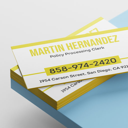 Ultra Thick Painted Edge Business Cards | Metallic Yellow Ultra Thick Painted Edge Business Cards | PrintMagic