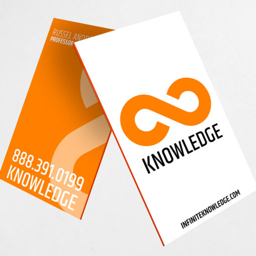 Ultra Thick Painted Edge Business Cards | Orange Ultra Thick Painted Edge Business Cards | PrintMagic