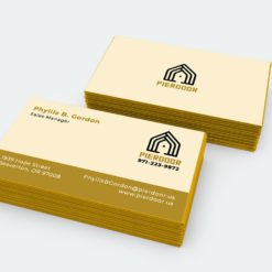 Painted Edge Business Cards | Painted Edge Business Cards Printing | Professional Business Cards With Metalic Gold Edge And Ultra Thick Uncoated Paper | Print Magic