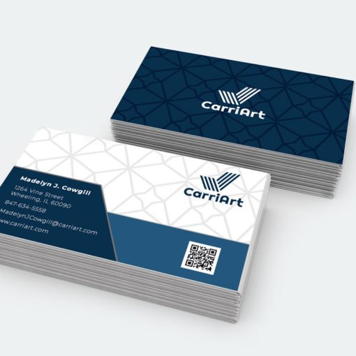 Painted Edge Business Cards Printing, Professional Business Cards, White Edge Business Cards