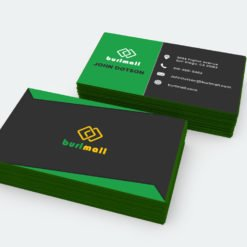 colored edge business cards, Metallic Green Edge Business Cards, Ultra Thick Business Cards
