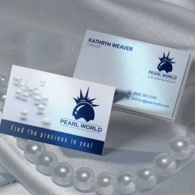 Pearl World Pearl Metallic Business Cards | Pearl Metallic Business Cards printing with Standard Pearl Metallic Paper and Full-color CMYK printing on 1 or 2 sides| PrintMagic