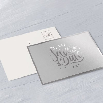 Foil Postcards printing | Professional Foil Postcards with Standard Uncoated and No Coating and Foil On Front | Printed front and back | PrintMagic