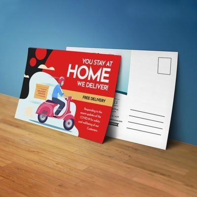 Reach Customers Safely - Stay Safe Postcards for Covid-19