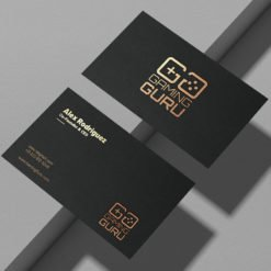 Raised Foil Business Cards | Raised Foil Business Cards Printing | Premium Business Cards With Gold Foil Velvet Soft Touch And Premium Gloss | Print Magic