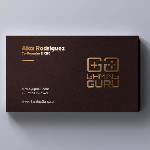 Raised Foil Business Cards Printing, Specialized Business Cards, Gold Foil Business Cards