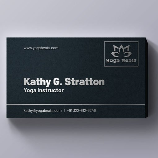 Print Raised Foil Business Cards, Professional Business Cards, Silver Foil Business Cards
