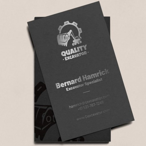 Raised Foil Business Cards Online, Velvet Soft Touch Business Cards