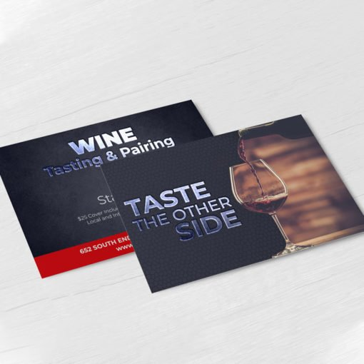 Raised Spot UV Postcards printing | Premium Raised Spot UV Postcards with Premium Gloss and Velvet Soft Touch lamination and Raised Spot UV Front | PrintMagic