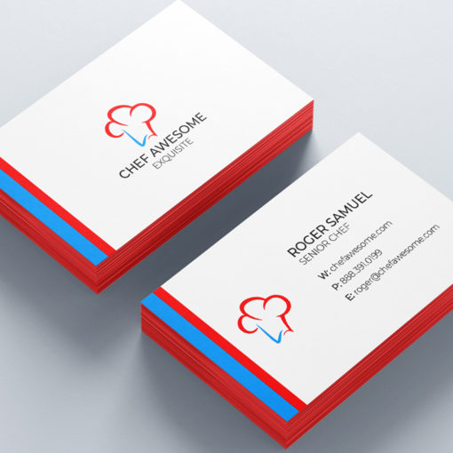 Ultra Thick Painted Edge Business Cards   Red Ultra Thick Painted Edge Business Cards   PrintMagic