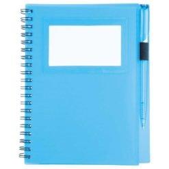 """5.5"""" x 7"""" Star Spiral Notebook w/Pen-1"""
