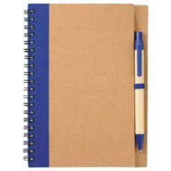 "5"" x 7"" Eco Spiral Notebook with Pen-1"