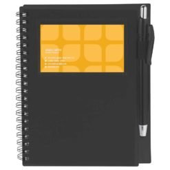 "5.5"" x 7"" Star Spiral Notebook with Pen"