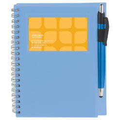 "5.5"" x 7"" Star Spiral Notebook with Pen-1"
