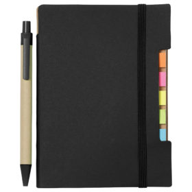 Personalized Recycled Sticky Notebook with Pen