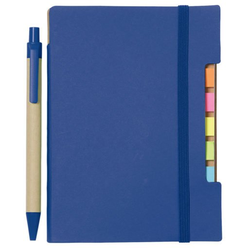 "Promotional 4"" X 6"""" Recycled Sticky Notebook with Pen"""