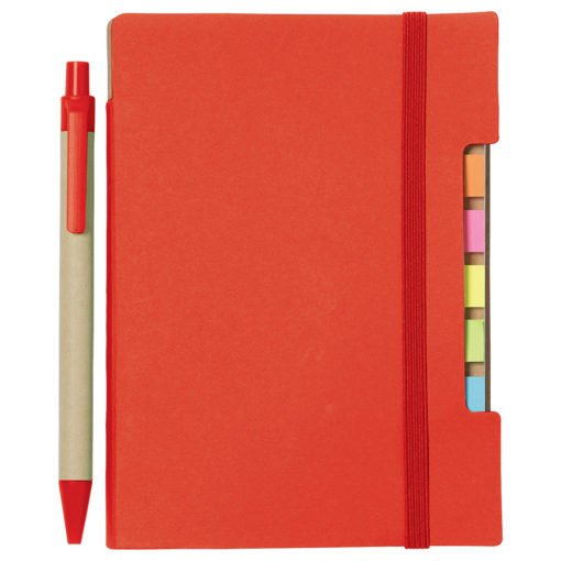 """4""""x 6"""" Recycled Sticky Notebook with Pen-6"""