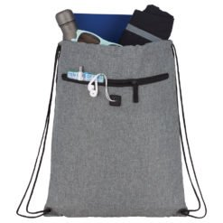Graphite Drawstring Sportspack w/ Earbud-1