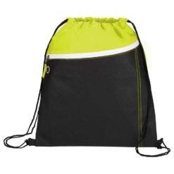 Slant Front Pocket Drawstring Bag-1