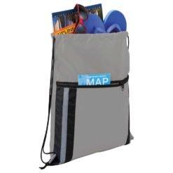 Deluxe Reflective Drawstring Bag-1